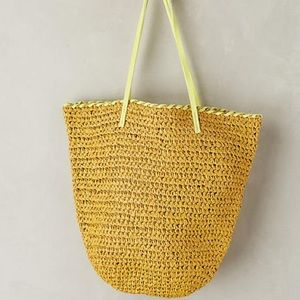 Anthropologie Market Straw Bag